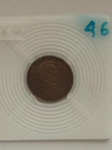 moneda de un centavo de dolar de eeuu del año 1946