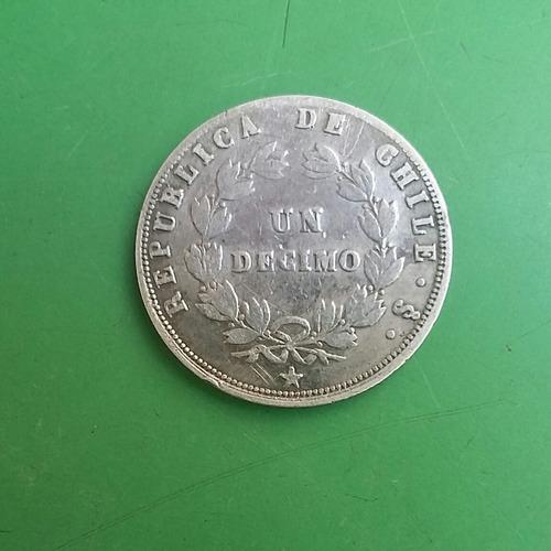 moneda de un decimo año 1861