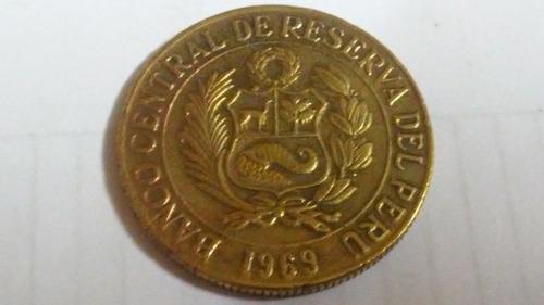 moneda de un sol de la llamita con moño año 1969