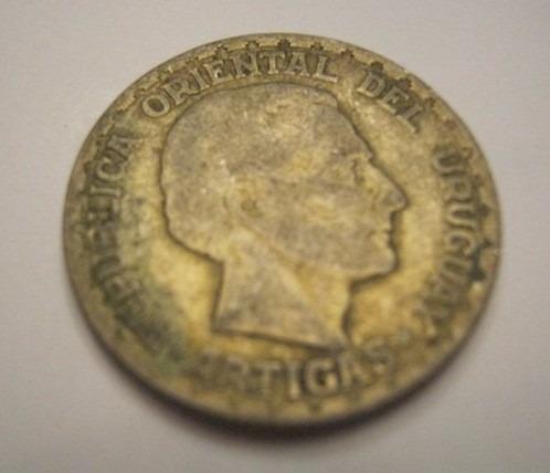 moneda de uruguay - plata - 50 centésimos - año 1943