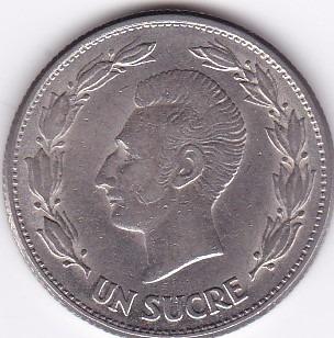 moneda decimal ecuador! un sucre 1946 - buen estado