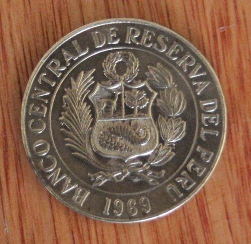 moneda del peru un sol de oro 1969 (bronce)