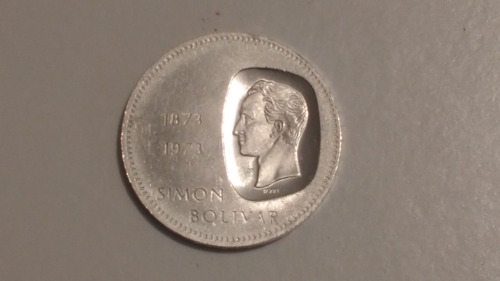 moneda doblón 10 bolívares antigua plata 30g 1873-1973