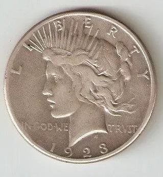 moneda dolar de plata peace