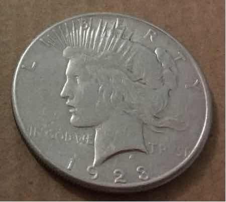 moneda dólar peace 1923 plata + destapador plata peru (grw)