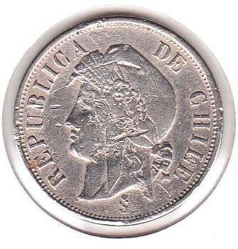 moneda  dos centavos 1871 economia es riqueza