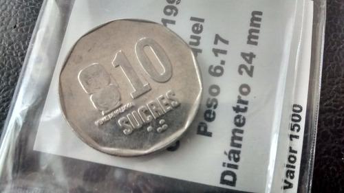 moneda ecuador - 10 sucres - 1991  (438z