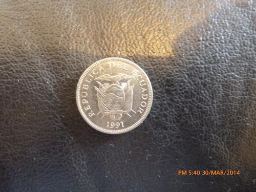 moneda ecuador 5 sucres 1991 (213
