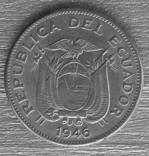 moneda ecuador  de 1 sucre  de 1946