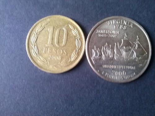 moneda eeuu quarter dollar 2000 ceca p virginia (c35)