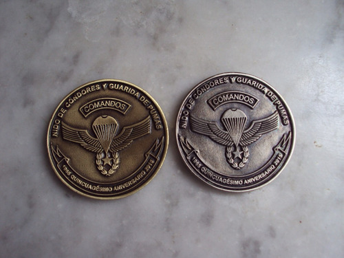 moneda escuela paracaidista y ff.ee.