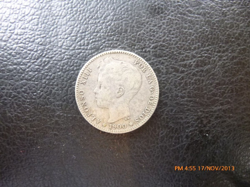 moneda españa 1 peseta 1900   plata 0.835 (94p