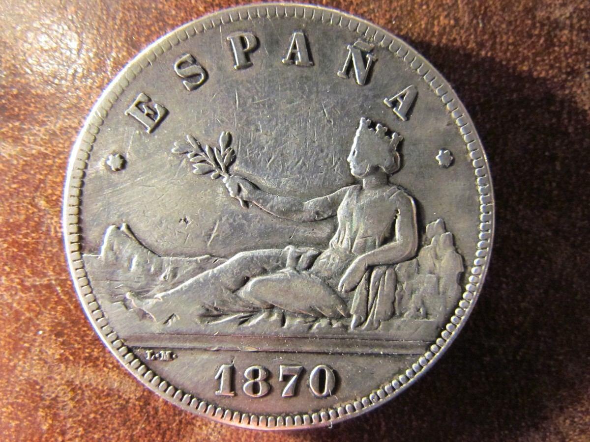 Moneda espa a 5 pesetas 1870 snm plata 900 gran tama o 3 8cm en mercado libre - Cuberterias de plata precios ...