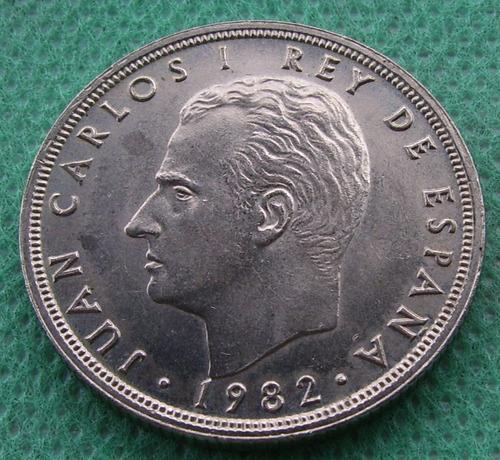moneda españa de 50 pesetas de 1982 rey juan carlos