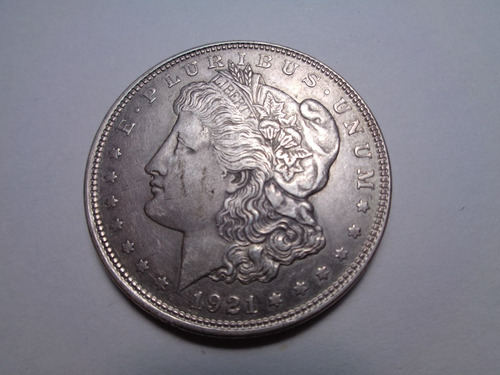 moneda estados unidos 1 dolar 1921 plata eeuu