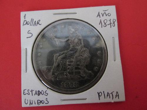 moneda estados unidos 1 dollar trade plata año 1878 escasa