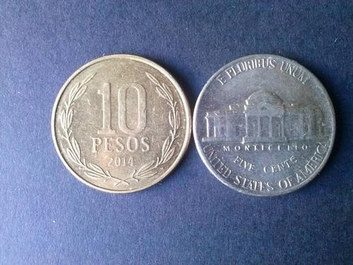 moneda estados unidos five cents niquel 1995 ceca d