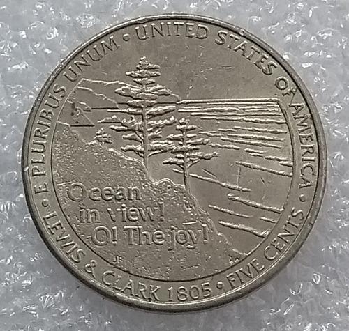 moneda estados unidos jefferson 5 centavos 2005 p westward j