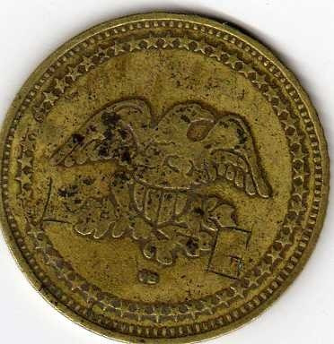 moneda ficha de san andres de cinco