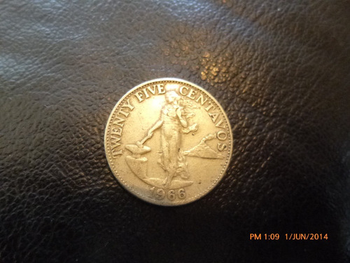 moneda filipinas 25 cnets 1966 (228z
