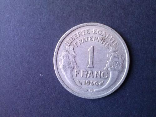 moneda francia 1 franco 1946 ceca b aluminio