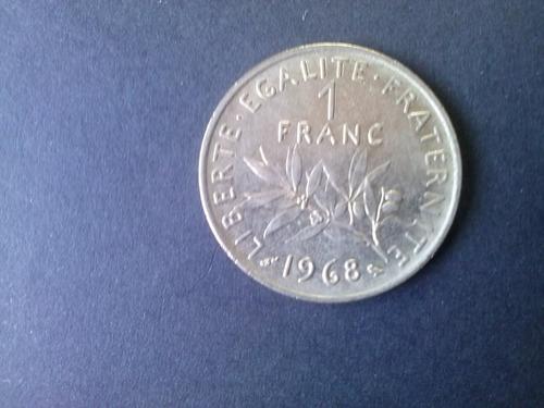moneda francia 1 franco 1968 niquel
