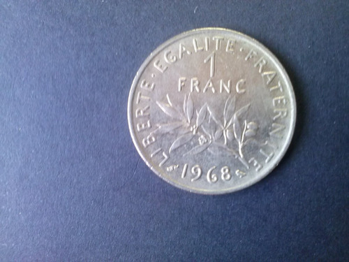 moneda francia 1 franco 1968 niquel (c35)