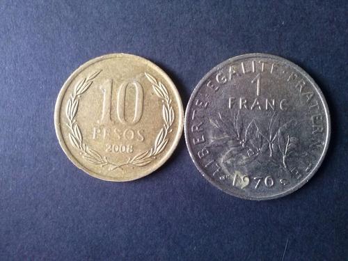moneda francia 1 franco níquel 1970 (c35)