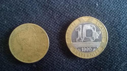 moneda francia 10 francos 1990 bimetalica ca04