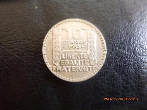 moneda francia 10 francs 1934 plata 0.680 (1046z
