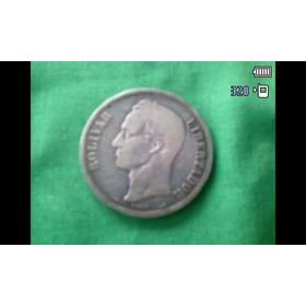 Moneda Fuerte  De Plata   Año 1900