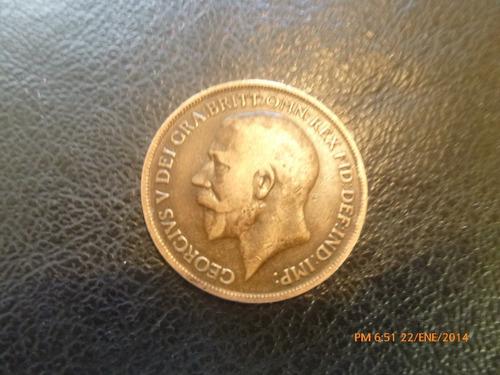 moneda gran bretaña 1 penny 1918 (23z