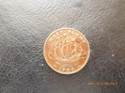 moneda gran bretaña  half penny 1944 (8z