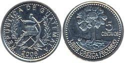 moneda guatemala 5 centavos 1994 sin circular