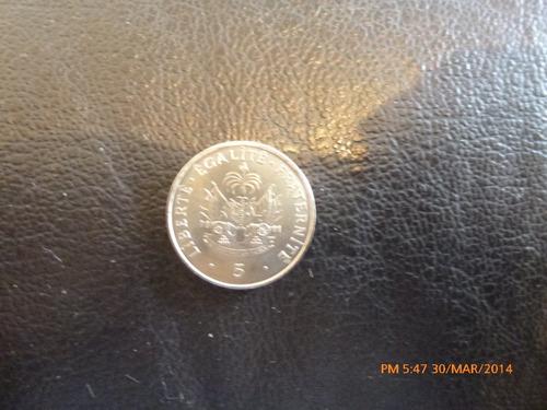 moneda haiti  5  centimes 1997 (55z
