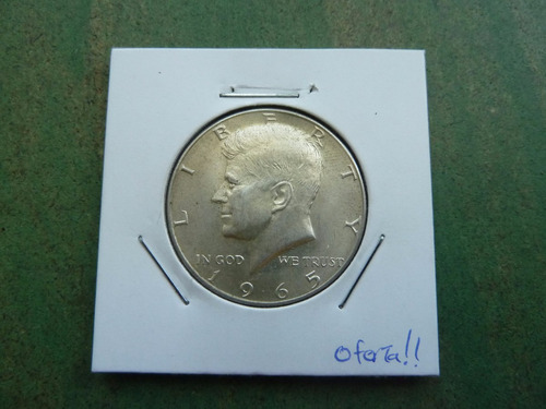 moneda half dollar usa 1965 plata oferta !! - vp