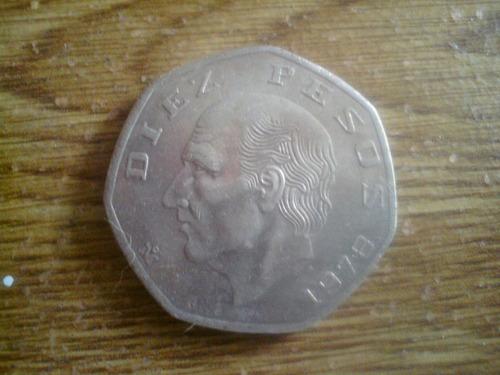 moneda heptagonal de hidalgo 1978 en perfectas condiciones