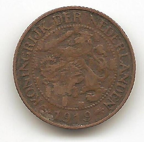 moneda holanda   1 centavo  1919