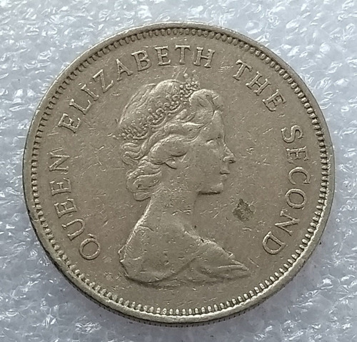 moneda hong kong 1978 one dollar reina elizabeth ii
