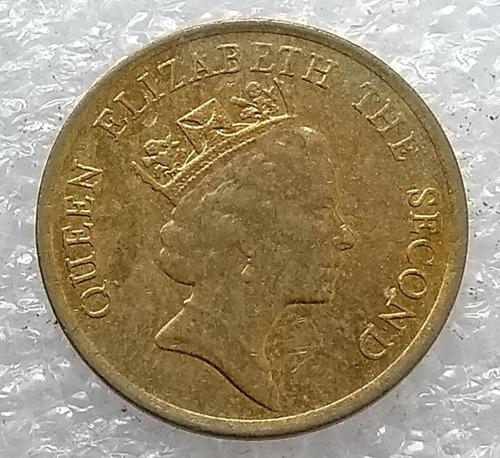 moneda hong kong 1990 10 centavos reina elizabeth ii