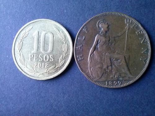 moneda inglaterra half penny 1899 cobre (c10)