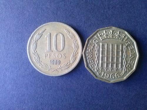 moneda inglaterra three pence 1966 bronce (c11)