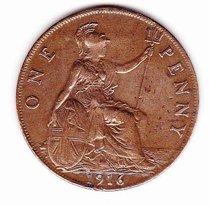 moneda inglesa 1916
