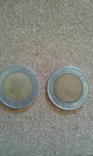 moneda italia 500 liras bimetalica 1984