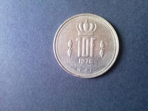 moneda luxemburgo 10 francos niquel 1976 (c41)