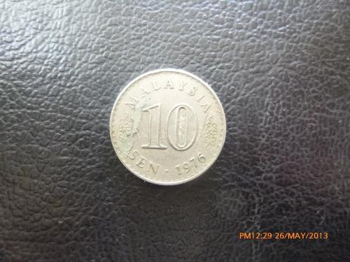 moneda malasia 10 sen 1976 (324z