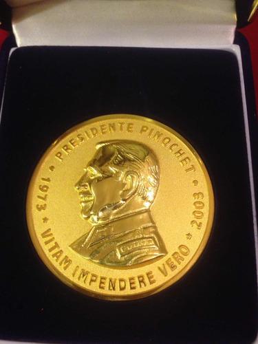 moneda medalla augusto pinochet 6 cm militar ejercito