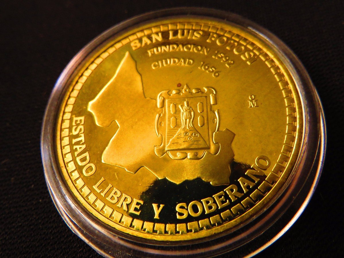 moneda medalla casa de moneda 1993 panta san luis potosi x