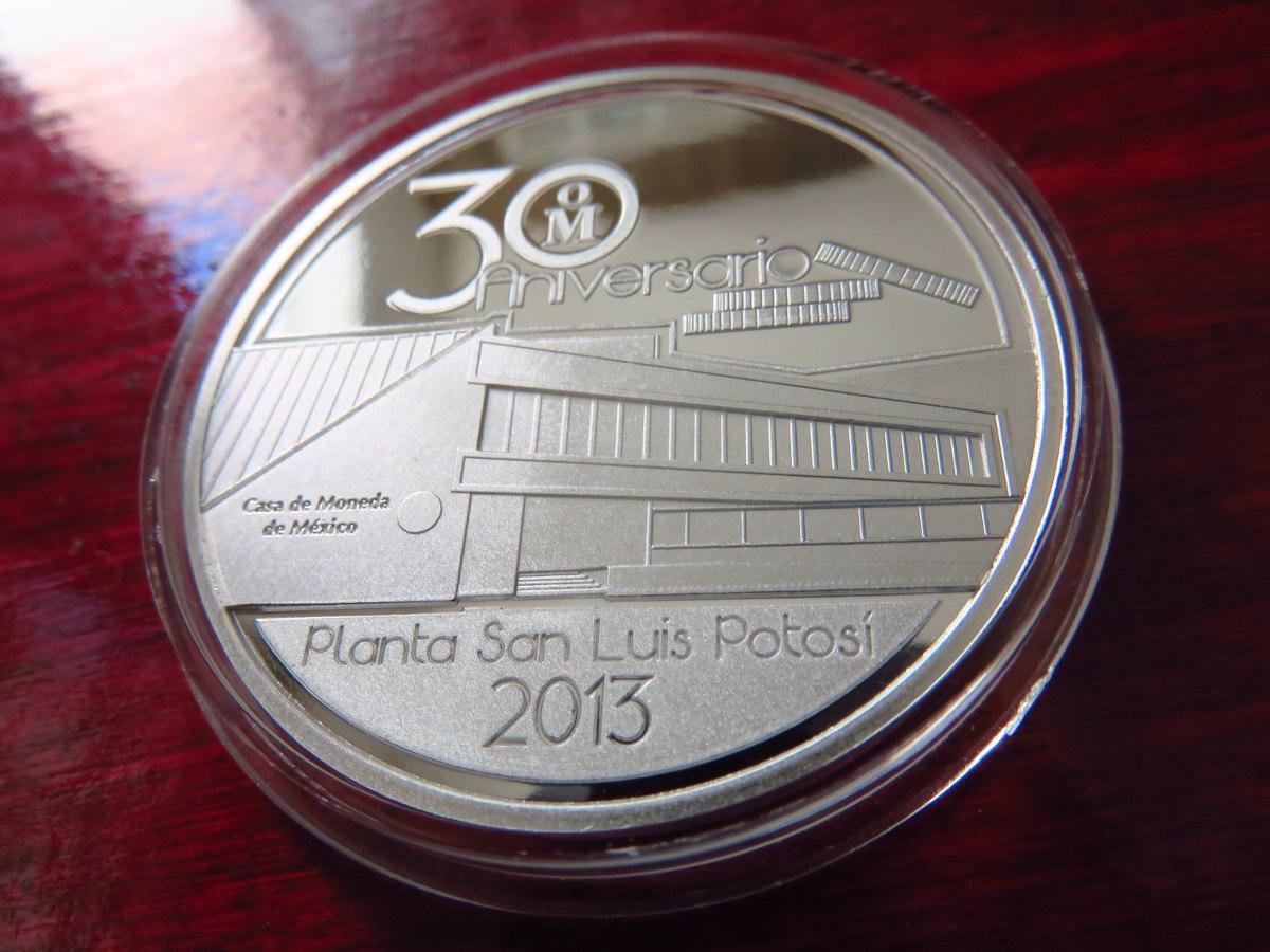 moneda medalla casa de moneda 30 a os planta san luis