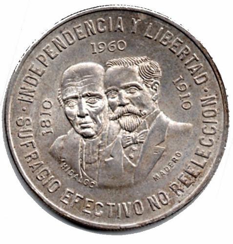 moneda mexicana plata  hidalgo juárez   diez  pesos p139